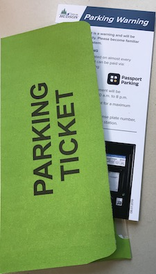 Parking Ticket with Envelope