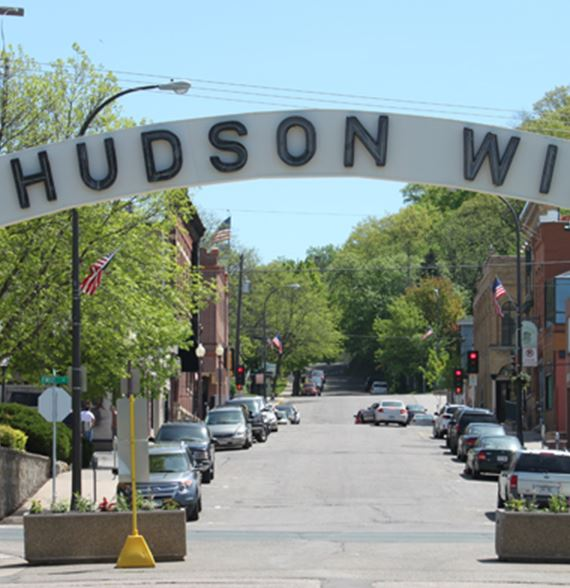 Hudson Arch in downtown